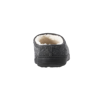 Women's Flora Hoodback Slipper in Charcoal Heathered Back Heel
