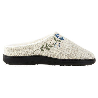 Women's Flora Hoodback Slipper in Oatmeal Heathered Profile