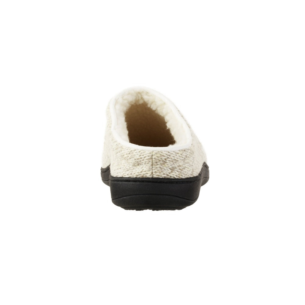 Women's Flora Hoodback Slipper in Oatmeal Heathered Back Heel