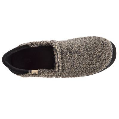 Men's Acorn Moc with Collapsible Heel Slipper in Earth Tex Inside Top View