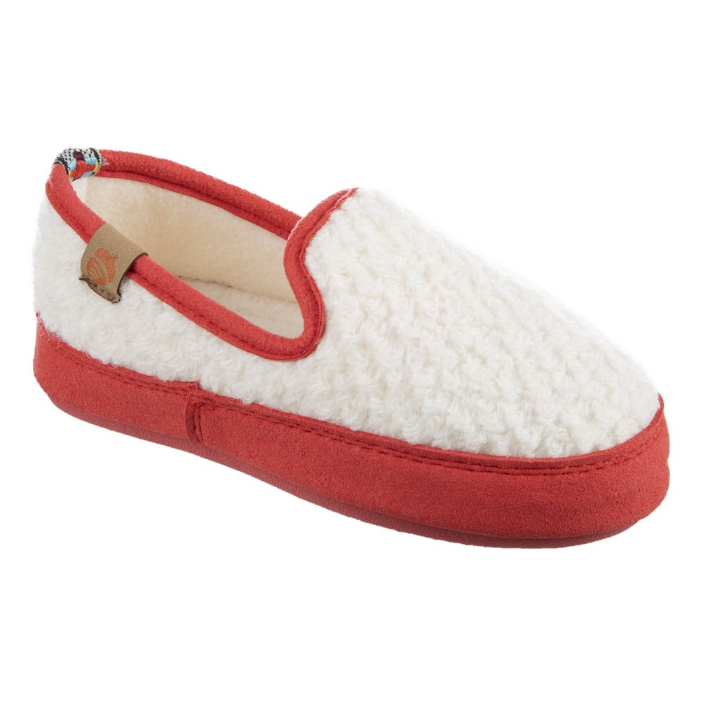 Kids L'il Bristol Berber Loafer in Ewe with Pink Sidewalls Right Angled View