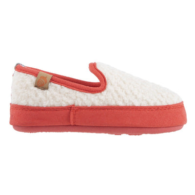 Kids L'il Bristol Berber Loafer in Ewe with Pink Sidewalls Profile