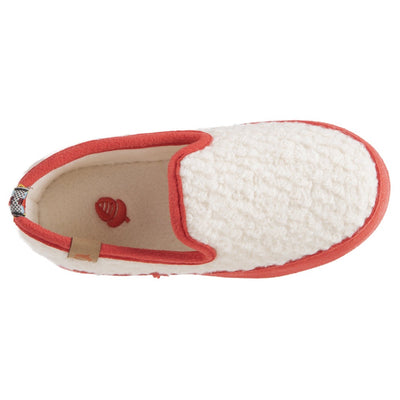 Kids L'il Bristol Berber Loafer in Ewe with Pink Sidewalls Inside Top View