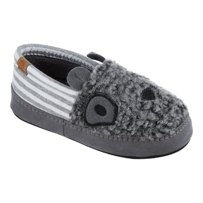 Kids Acorn Critter Moc in Stormy Grey Dog Right Angled View