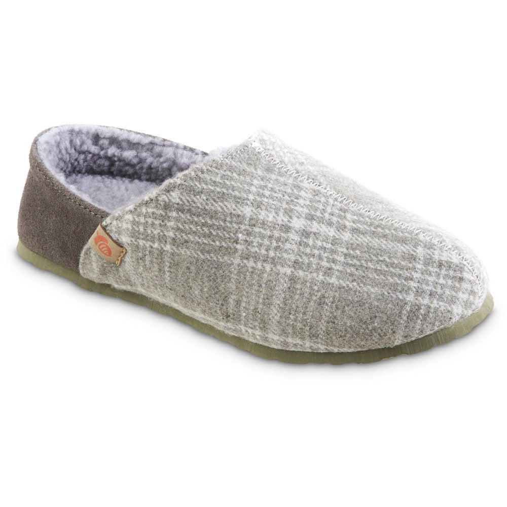 Women's Algae-Infused Parker Slippers in Grey Right Angled View