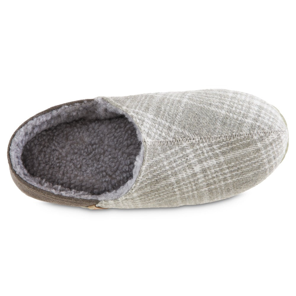 Women's Algae-Infused Parker Slippers in Grey Inside Top View