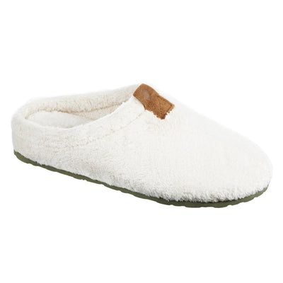 Women's Algae-Infused Spa Slippers in Ewe Right Angled View
