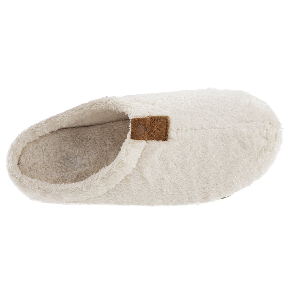 Women's Algae-Infused Spa Slippers in Ewe Inside Top View