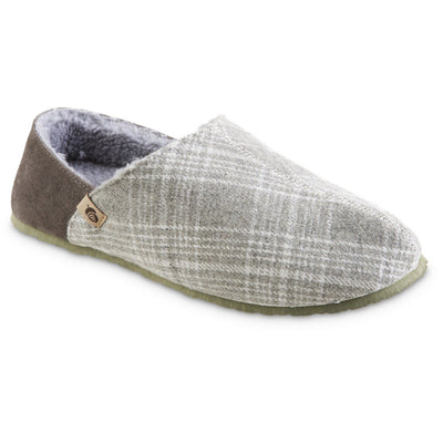 Men's Algae-Infused Parker Slippers in Grey Right Angled View