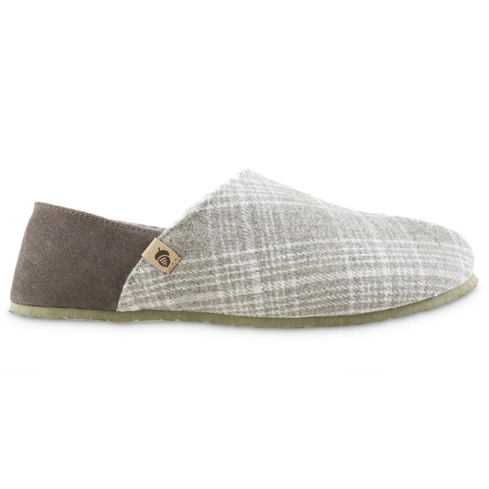 Men's Algae-Infused Parker Slippers in Grey Profile
