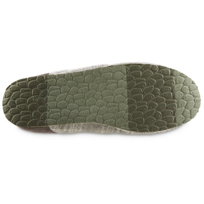 Men's Algae-Infused Parker Slippers in Grey Bottom Sole Tread