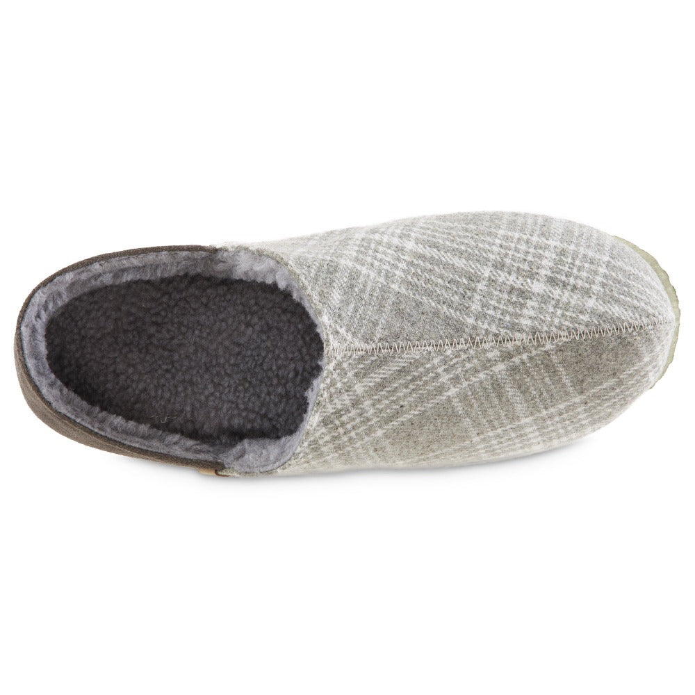 Men's Algae-Infused Parker Slippers in Grey Top Inside View