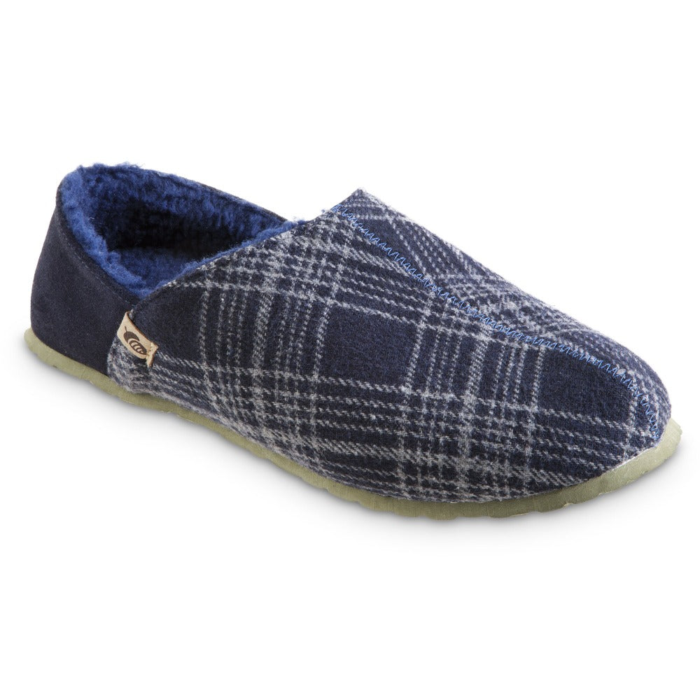 Men's Algae-Infused Parker Slippers in Navy Right Angled View