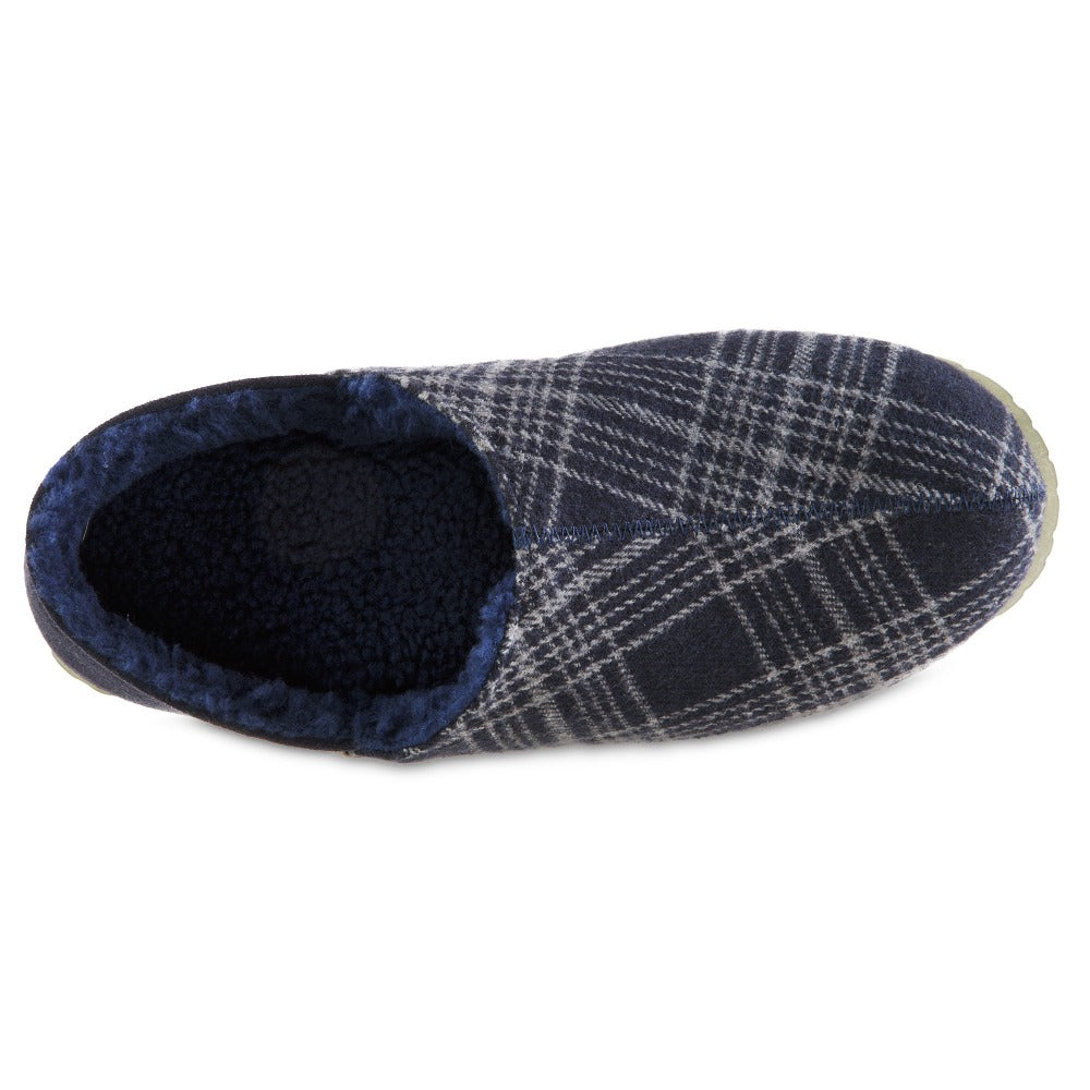 Men's Algae-Infused Parker Slippers in Navy Top Inside View