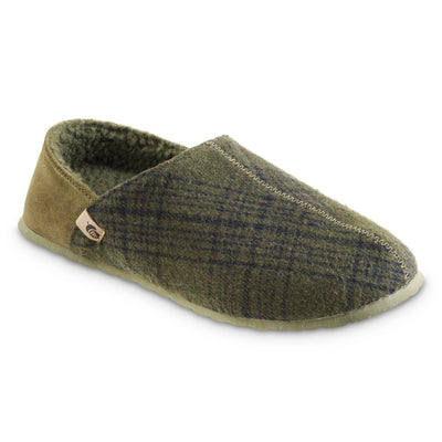 Men's Algae-Infused Parker Slippers in Olive Right Angled View