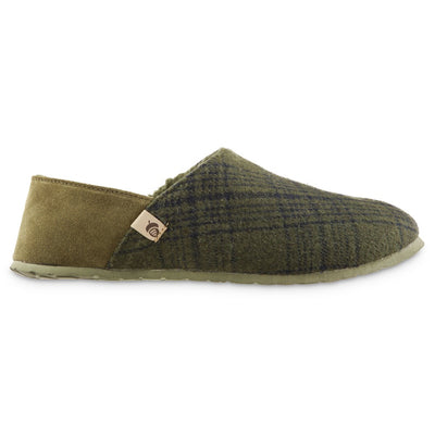 Men's Algae-Infused Parker Slippers in Olive Profile