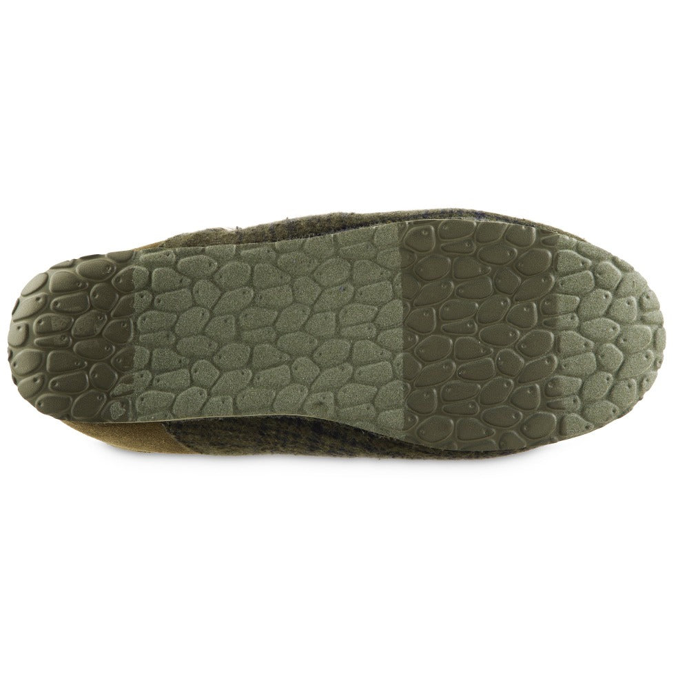 Men's Algae-Infused Parker Slippers in Olive Bottom Sole Tread