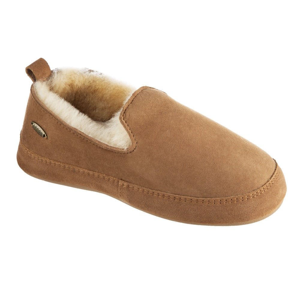 Women's Ewe Loafer Slipper in Chestnut Right  Angled View