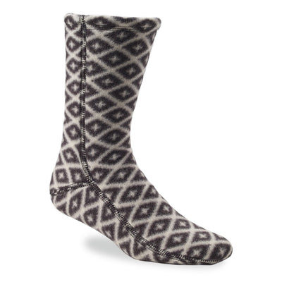 Versafit Fleece Cabin Socks in Black/Cream