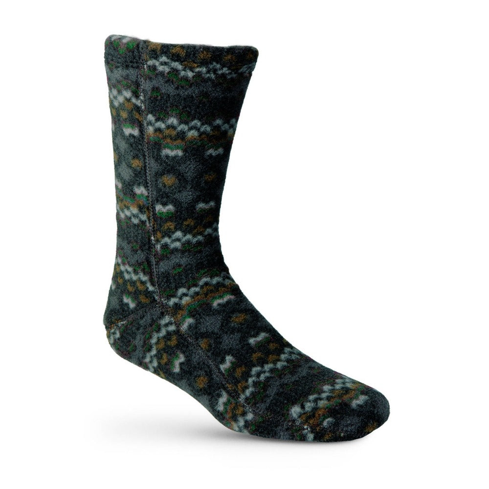 Versafit Fleece Cabin Socks in Charcoal Cable