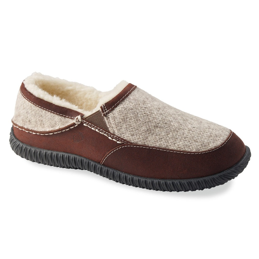 Acorn Men's Rambler Moccasin in Heather Grey Profile View