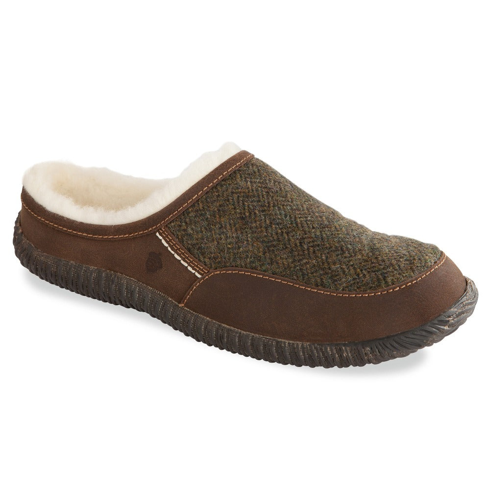 Olive Tweed Acorn Slipper