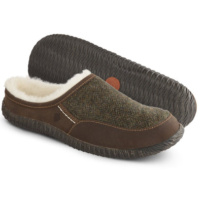 Acorn Rambler Slide Slipper in Olive Pair View
