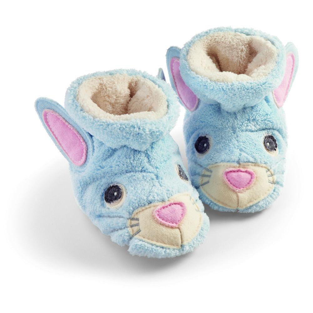 Toddler's Critter Booties in Baby Bunny Profile