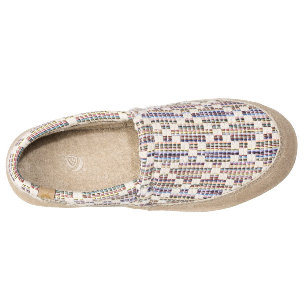 Women's Summerweight Moccasins in Pebble Inside Top View