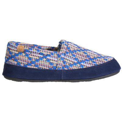 Women's Summerweight Moccasins in Navy Profile