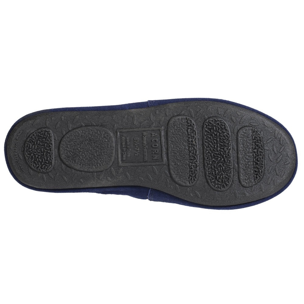 Women's Summerweight Moccasins in Navy Bottom Sole Tread