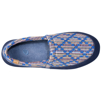 Women's Summerweight Moccasins in Navy Inside Top View