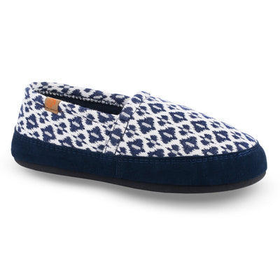 Women's Summerweight Moccasins in Blue Right Angled View