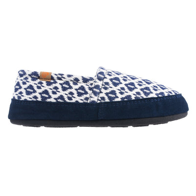 Women's Summerweight Moccasins in Blue Profile