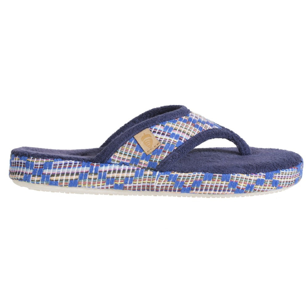 Women's Summerweight Spa Thongs in Navy Profile