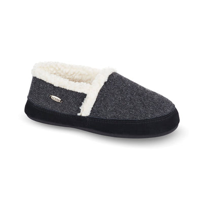 Women's Moc Ragg Slippers Dark Charcoal Heathered Right Angled View