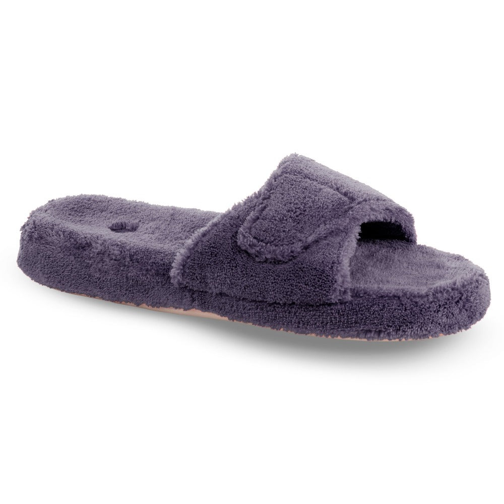 Women's Spa Slide Slippers in Ink Right Angled View