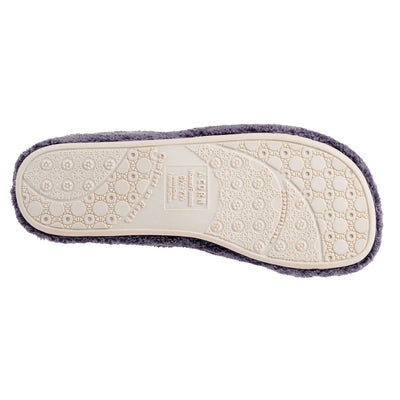 Women's Spa Slide Slippers in Ink Bottom Sole Tread