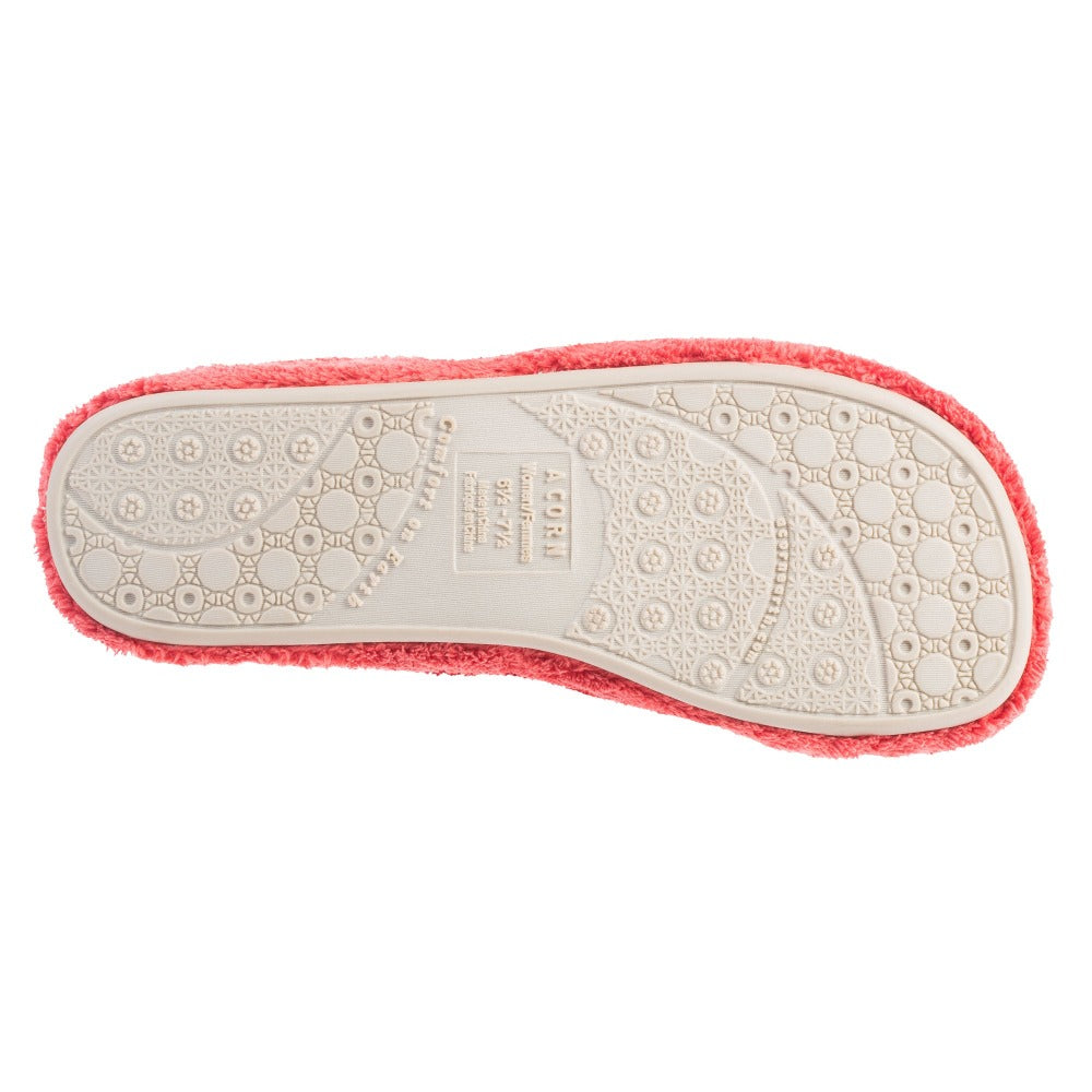 Women's Spa Slide Slippers in Lobster Red Bottom Sole Tread