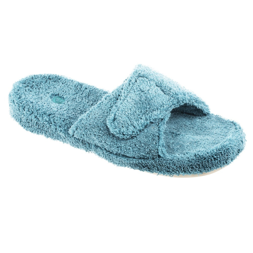 Women's Spa Slide Slippers in Peacock Side View