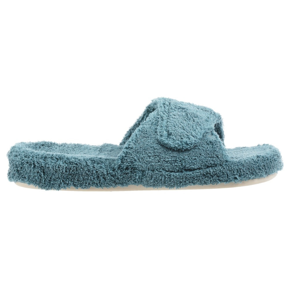 Women's Spa Slide Slippers in Peacock Profile