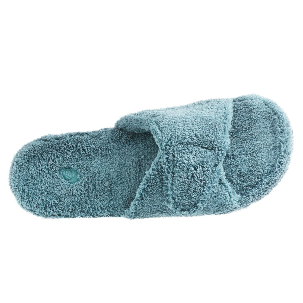 Women's Spa Slide Slippers in Peacock Inside Top View