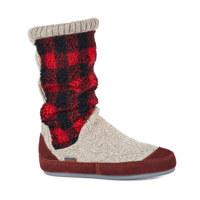 Women's Slouch Boots in Classic Buffalo Plaid Right Angled View