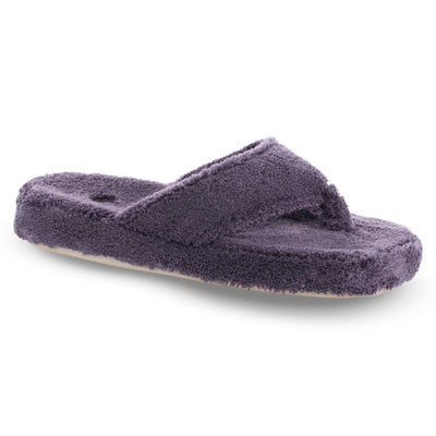 Women's Spa Thong Slippers in Ink Right Angled View
