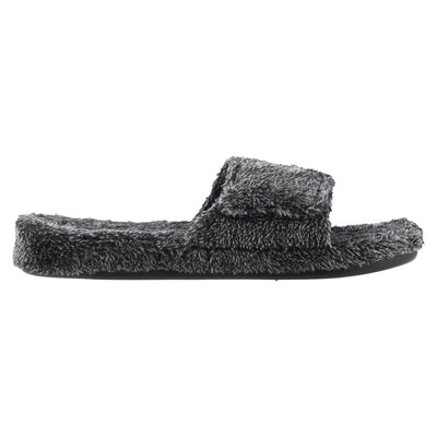 Men's Spa Slide Slippers in Black Profile