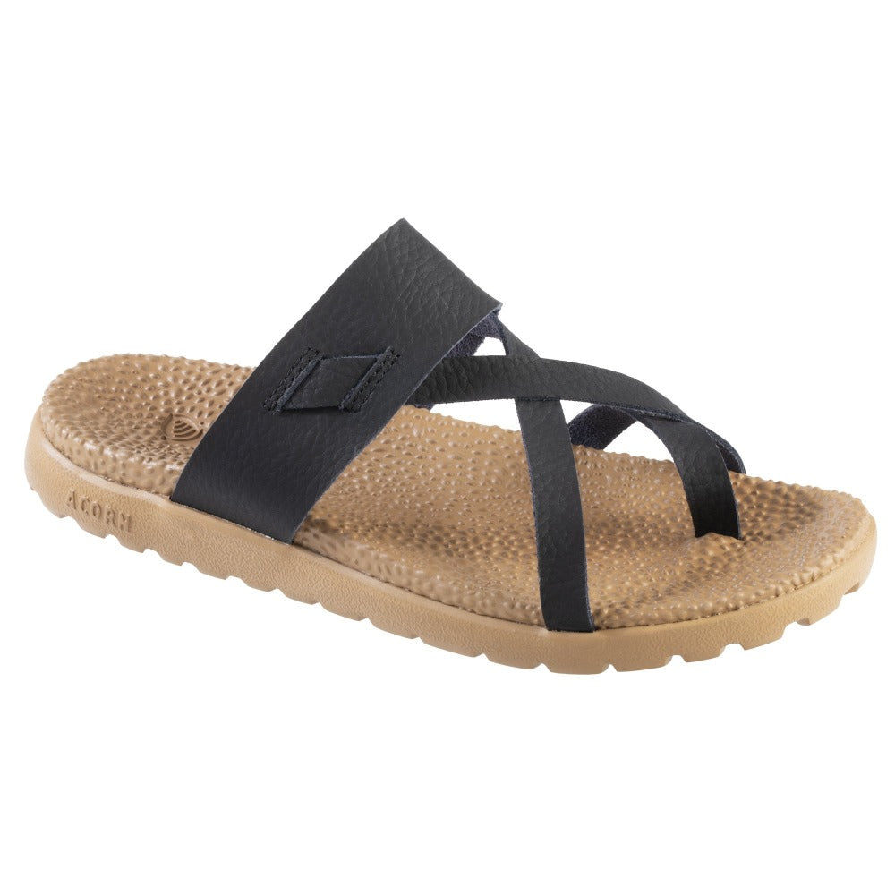 Acorn Riley Sandal in Black Right Angle View