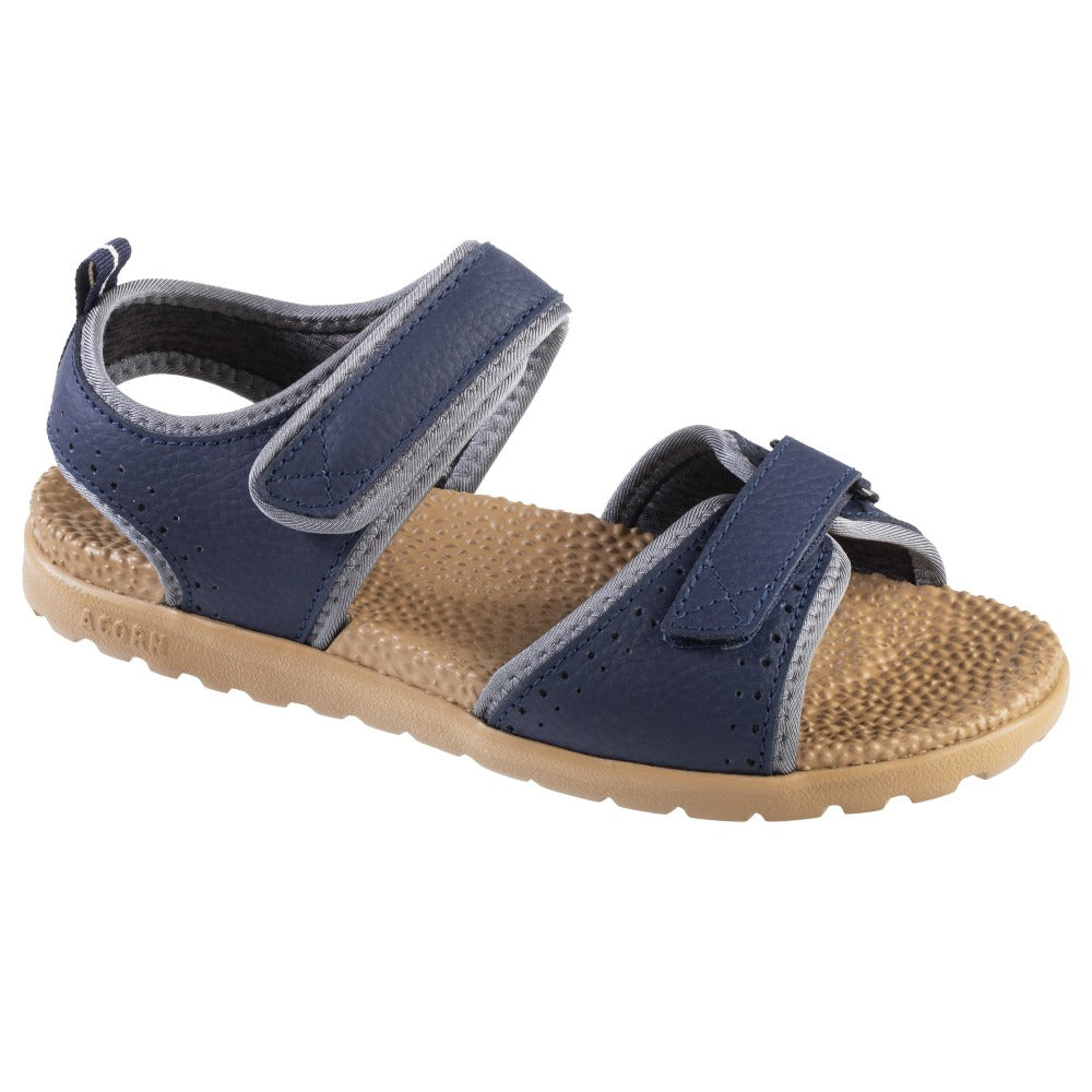 Acorn Women's Grafton Sandal Navy Blue with Adjustable Straps