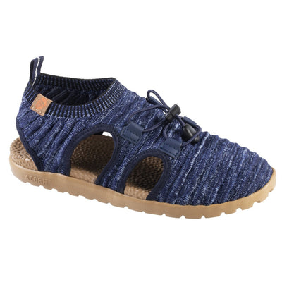 Acorn Casco Recycled Active Sandal Navy Blue Side Profile