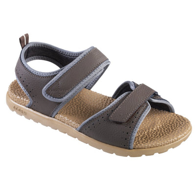 Acorn Men's Grafton Sandal with Adjustable Straps in Walnut Angle View
