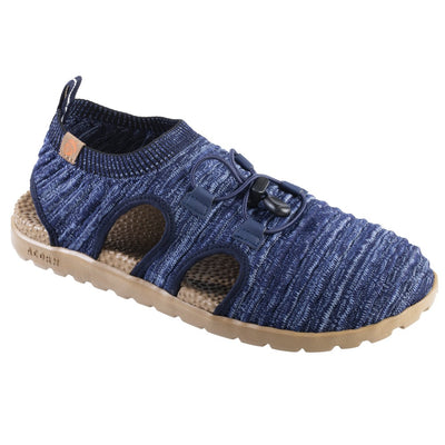 Acorn Men's Casco Active Sport Sandal in Navy Blue Back Heel View